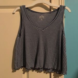 Blue & White Striped Cover-up